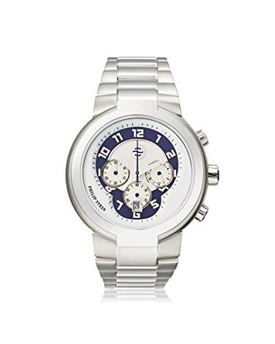 Philip Stein Men's 32-AN-SS Silver/Blue/Silver Stainless Steel Watch