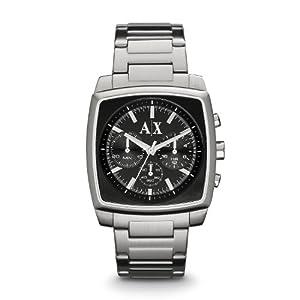 Armani Exchange Stockton Chronograph Black Dial Stainless Steel Mens Watch AX2253