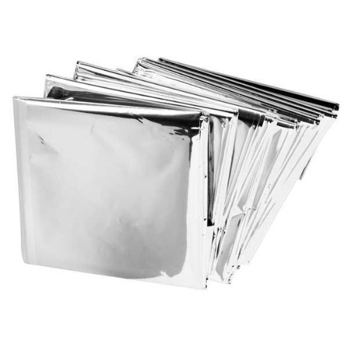 Camping Survial Kit Emergency Mylar Thermal Blankets 55''× 82'' (10 Pack) front-925403