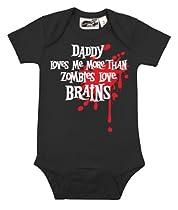 Daddy Loves Me Zombie Splat One Piece Black Medium (6-12 months)