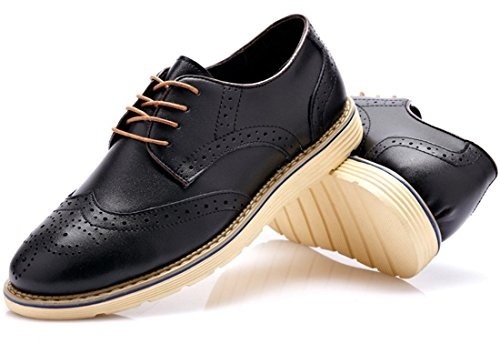 Kunsto Men S Oxford Leather Shoes Lace Up