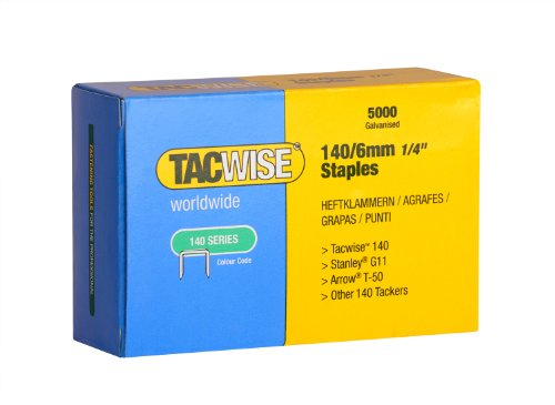 Tacwise 140 Series 6mm Staples (Pack of 5000)