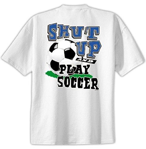 Shut Up Play Soccer T-shirt boys girls medium