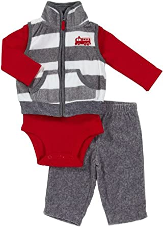 """Carter\\\\\\\'s Baby-boys \\\\\\\""""Little Hero\\\\\\\"""" 3-Piece Outfit"""