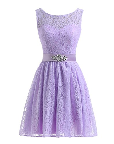 Beautyprom Women's Short Lace Homecoming Party Dresses Lavender US1