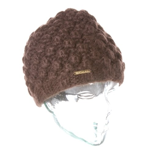 MICHAEL Michael Kors Hand Textured Knit Chocolate Skull Hat