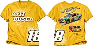 Buy Checkered Flag Kyle Busch #18 Electric T-Shirt - Yellow by Checkered Flag