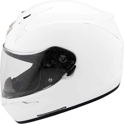 Scorpion EXO-R410 Solid White Full Face Helmet - Medium
