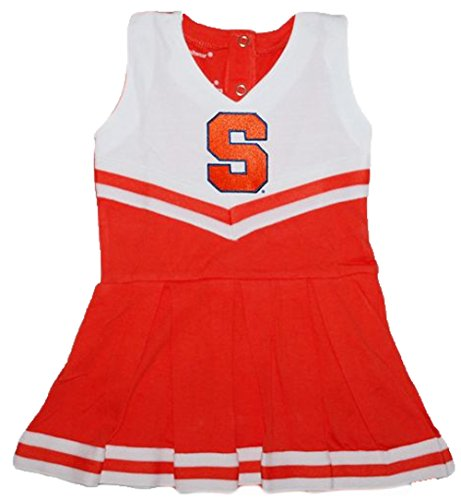 Syracuse Orangemen NCAA Newborn Baby Cheerleader Bodysuit Dress