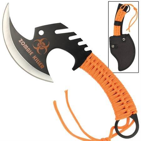 Zombie Killer Skullsplitter Throwing Axe - Orange
