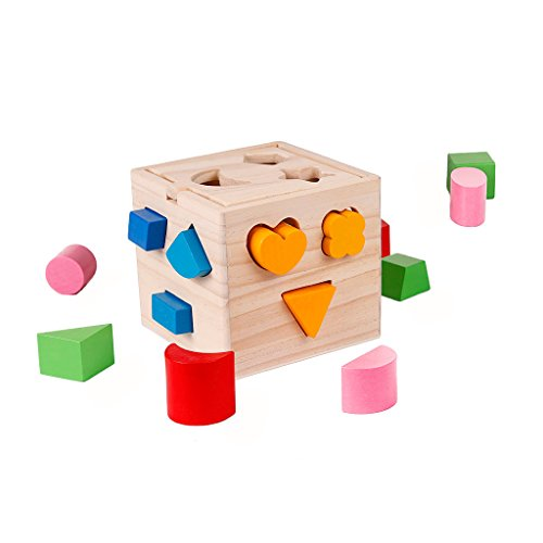 Vidatoy-15-Hole-Cube-For-Shape-Sorter-Cognitive-And-Matching-Wooden-Toys