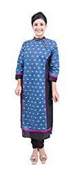 Krivi By Kk Women's Cotton Kurti (KRV-22-B_Blue_M)