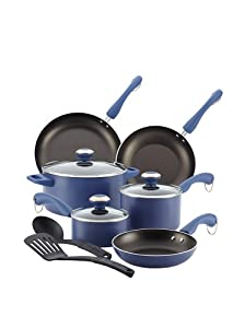 Paula Deen Signature Aluminum Nonstick Dishwasher Safe 11-Piece Cookware Set