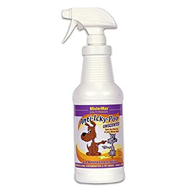 Mister Max Unscented Anti Icky Poo Odor Remover, Quart Size
