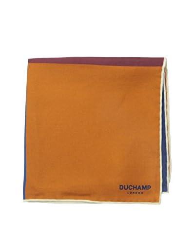 Duchamp Men's Box Printed Pochette, Brown/Red/Blue