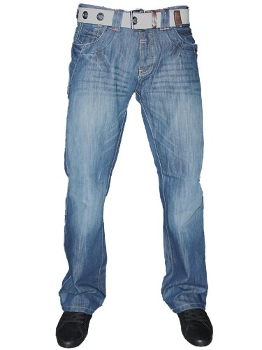 Mens Lightwash Dry Wash SH883 Designer Tapered Straight Leg Denim Jeans W30 L30