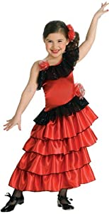 Rubies Girls Spanish Lolita Kids Costume As Shown - Medium