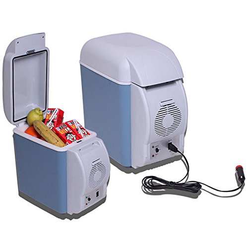 LightInTheBox Portable 12v Car Refrigerator 7.5L Cooler And Heating Multi-function Car Fridge Drink Cooler Food Warmer Small Refrigerator for Home ,Office, Car or Boat AC & DC,Blue (12 Volt Refrigerator Compressor compare prices)