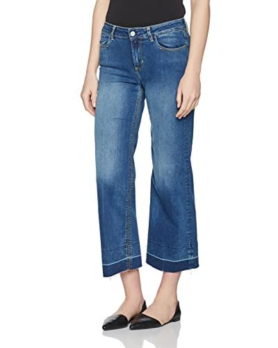 Guess Vaquero Amber Crop Coulotte Denim
