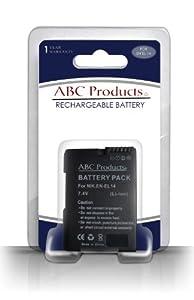 ABC Products® Remplacement Nikon Coolpix EN-EL14 Chipped Li-ion Batterie / Pile pour sélectionner Coolpix Appareil Photo Numérique (modèles indiqués ci-dessous)
