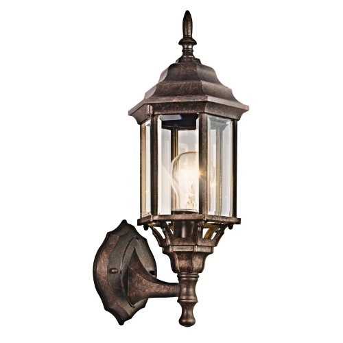 Kichler Lighting 49255BK Chesapeake Outdoor Sconce, Black