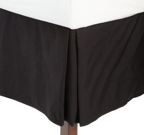 Why Choose Fresh Ideas Tailored Poplin Bedskirt 14-Inch Drop Twin, Black