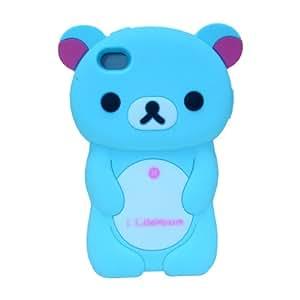 DC Apple iPhone 4S Rilakkuma: 3-D Case in Blue silicone case Protector