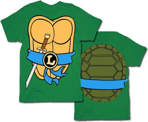 Adults TMNT Teenage Mutant Ninja Turtles T-shirt. Leonardo