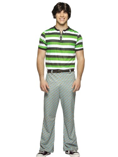 Bobby Brady Bunch Costume 70s Pants and Striped Shirt Theatrical Mens Costume