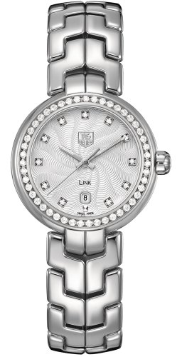 Tag Heuer Link Diamond Silver Guilloche Steel
