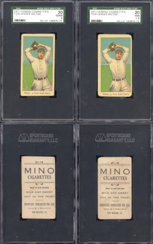 1911 mino cigarettes t216 (Baseball) Card# 72 hooks wiltse of the N.Y. nat'l Good Condition