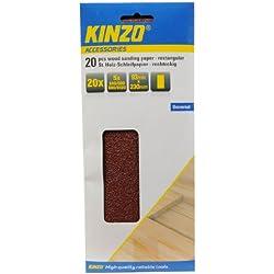 Hojas de papel de lija para madera (20 unidades, 93 x 230 mm, granos 40, 60, 80 y 120)