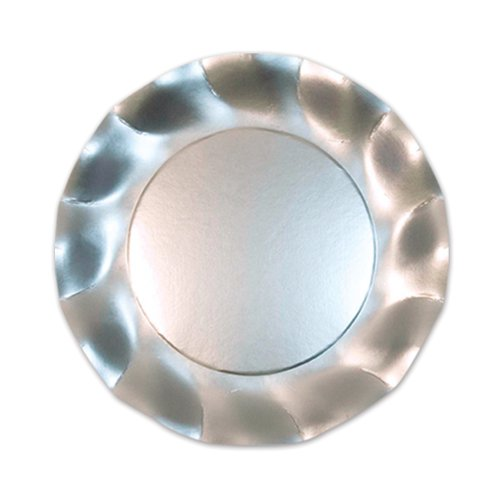 Beistle 10-Pack 8.25-Inch Plates, Small, Satin Silver - 1