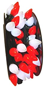 Amazon com 100 commercial length red and white led c7 christmas