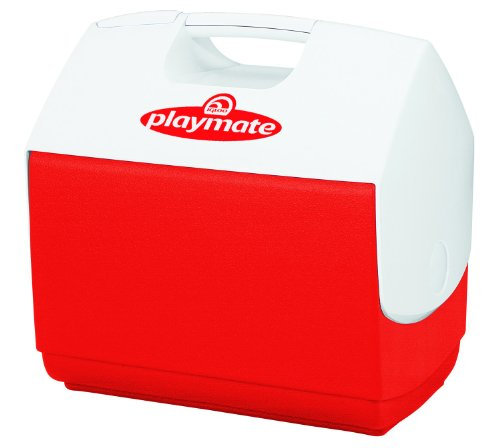 Igloo Playmate Elite 16 Qt. Personal Sized Cooler, Red body with white lid