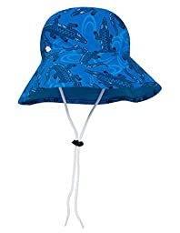 SunBusters Boys Bucket Hat (UPF 50+), Sky Blue Croc, Small