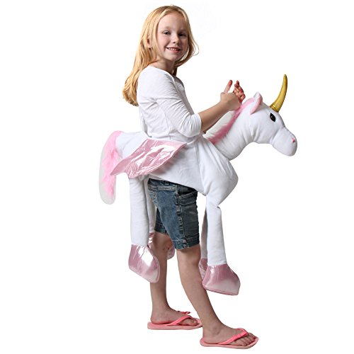 Ride-On Plush White Unicorn Costume