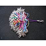 100 Pcs Assorted Color Mobile Phone Straps with Lobster Clasps Findings