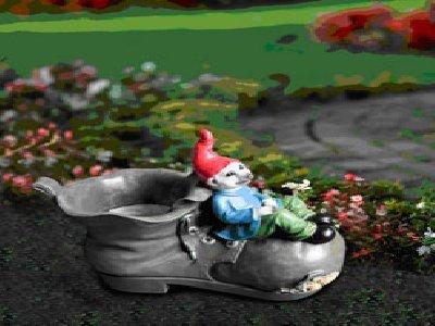 Garden Outfoor Meergnome Meerkat Gnome Dwarf Boot Flower Plant Pot Ornament