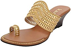 k.a.n Womens Tan Synthetic Wedge (Ksw 86_Tg_3, Size - 3 Uk)