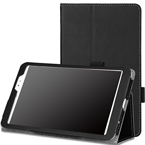 MoKo LG G Pad 8.3 Case - Slim Folding Cover Case with Built-in Hand Strap & Stylus Pen Loop for LG G Pad 8.3 Inch V500/V510 Tablet, BLACK (With Smart Cover Auto Wake / Sleep) (Lg Tablet Covers compare prices)