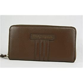 Marc By Marc Jacobs Wallet Zip Around Brown Leather