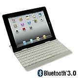 Novago AZERTY Keyboard Case blanc pour iPad2/iPad3(compatible qu'avec iPad2 et iPad3)- Coque et clavier bluetooth en aluminum spécialement conçu pour iPad2/iPad3 - Azerty -transformez votre ipad2 en M