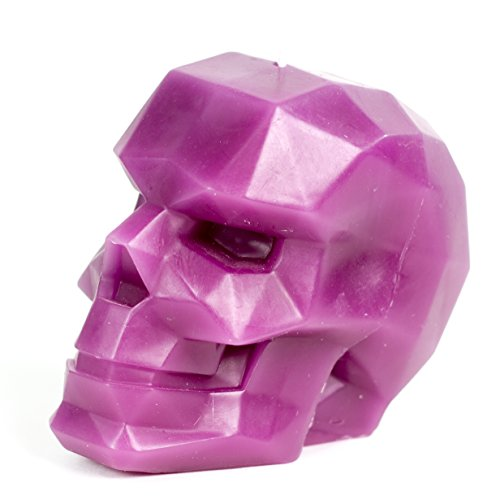 Skull Candle - Skull - Geometric Candles - Purple