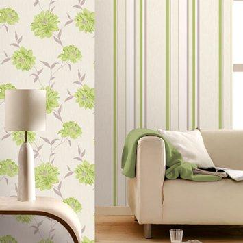 Green Carrara Stripe Wallpaper