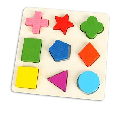 Kids Children Infant Wooden Wood Geometric Peg Board Educational Shapes Toy by Plan Toys 9 Puzzle