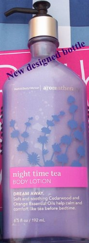 Bath & Body Works Aromatherapy Sleep Body Lotion 6.5 Fl Oz (192 Ml) (Night Time Tea) Bath Time Body