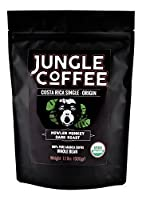 Jungle Coffee Whole Bean Costa Rican Gourmet Organic Dark Roast (1.1 Lbs) coffee beans
