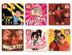 "WRECK-IT-RALPH - Wreck it Ralph Birthday Party Favor Sticker Set Consisting of 45 Stickers Featuring 6 Different Designs Measuring 2.5"" Per Sticker"