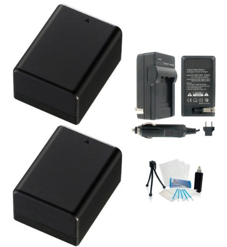 2-Pack of Fully Decoded Canon BP-718 High-Capacity Replacement Batteries with Rapid Travel Charger for Canon HF-R30 HF-R32 HF-R36 HF-R38 HF-R300 Cameras – UltraPro BONUS INCLUDED: Deluxe Camera Cleaning Kit, Camera Screen Protector, Mini Travel Tripod